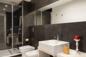 Deluxe two-room bathroom with jacuzzi