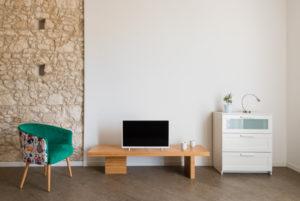 three-room living room with balcony