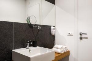 three-room bathroom with balcony