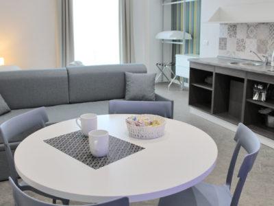 superior studio living room with balcony